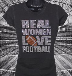 26897e4fd •Standout in the Crowd with a Large Rhinestone Football TeeShirt •Comfort  Feel