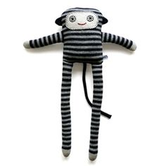 Lambswool knitted Monkey LongLegs - grey - Sally Nencini