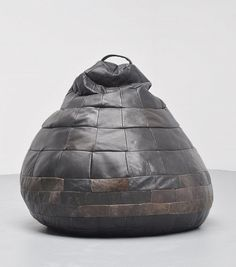 Anonymous; Patchwork Leather Bean Bag Chair by De Sede, 1970s.