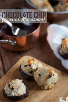 Passover is one week away. Coconut macaroons are a Passover staple, but for those of you who don't celebrate; they are probably one of my favorite light cookies anytime of the year. Sweet, light, coconut-y, and of course for me, a touch of mini chocolate chips and dipped in chocolate. Perfect. And did I mention …