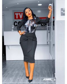 How To Look Classic Like Serwaa Amihere For Plus Size & Curvy Ladies Casual Work Outfits Classy Work Outfits, Office Outfits Women, Classy Dress, Work Casual, Chic Outfits, Fashion Outfits, Corporate Outfits, Corporate Wear, Corporate Fashion