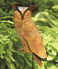 Another great find on #zulily! Flamed Owl Garden Stake by Ancient Graffiti #zulilyfinds