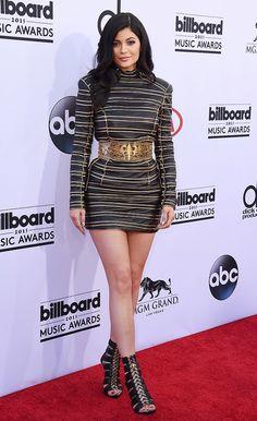 Kylie Jenner in a Balmain dress at the 2015 Billboard Music Awards.