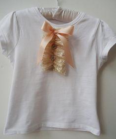 db23baf4e06 Girls ruffle lace tshirt by TheLittleSpeckledEgg on Etsy