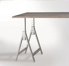 Gamba per tavolo a cavalletto forma di Y 710/1100 X 420 RAL 9006 ...