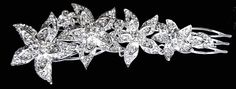 Rhinestone Crystal Hair Comb band Tiara