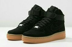 """Nike Air Force 1's """"Suade Black"""" (High Tops)"""