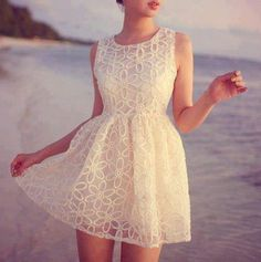 beach, dress, fashion, girl