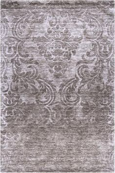 Tilli Area Rug #HomeDecorators working with the yellow mucha painting as a jumping off point this purple rug was a shoe in, it is complimentary in color to the artwork and the design within the rug is soft, romantic yet mimics the structure of found within the Mucha piece.