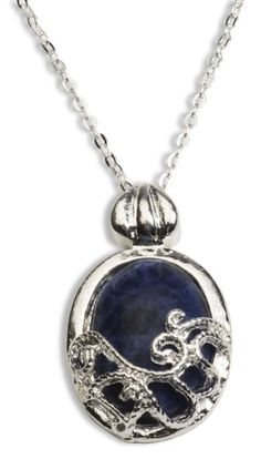 Amazon.com: Silver Plated Lapis the Vampire Diaries TVD Katherine Pierce Necklace Katerina Petrova Necklace: Jewelry
