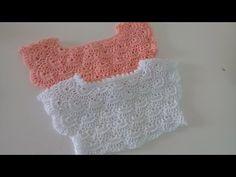 Canesu tejido a crochet - paso a paso - cualquier talla - YouTube Crochet Yoke, Crochet Vest Pattern, Crochet Doll Dress, Crochet Clothes, Knitting Patterns, Crochet Patterns, Baby Girl Crochet, Crochet For Kids, Baby Hoodie