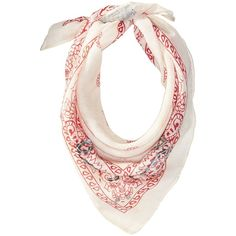 Steve Madden Light Contrast Bandana Neckerchief (Red) ($22) ❤ liked on Polyvore featuring accessories, scarves, steve madden, sequin scarves, red bandana, steve madden scarves and red scarves