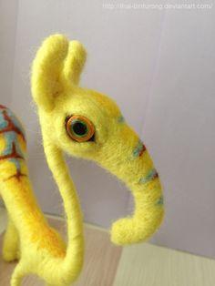 Elli the needle felted creature, cute wool animal. via Etsy.