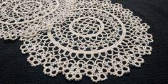 Light Colors, Colours, Shades Of Beige, Tatting Lace, Crochet Tablecloth, Lace Doilies, Light Beige, Cotton Thread, Crochet Necklace