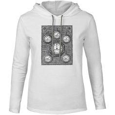 Mintage Antique International Clock Mens Fine Jersey Hooded T-Shirt