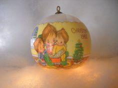 Betsey Clark Cards   1982 Betsey Clark - Vintage Hallmark Christmas Ball-Ornament-Satin ...