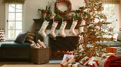 Utilize driftwood, fresh greens, red berries, and birch logs to add natural color to your Christmas decor.