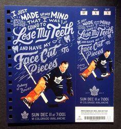 Johnny Bower Full Unused Ticket Toronto Maple Leafs 2016-17 Season   eBay