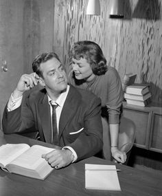 The Case of the Sulky Girl' Perry Mason and Della Street Image dated June 6 1957