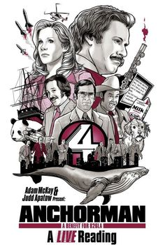 Anchorman: A Live Reading, Limited Edition Signed Event Poster