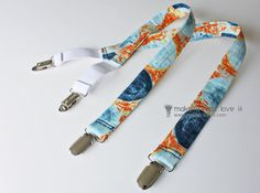 Tutorial for suspenders-- use for making bright blue bracers for a Christopher Robin costume, or white suspenders for a song-and-dance man, or black/grey ones for a gangster.