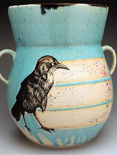 Megan Daloz bird vessel at MudFire Gallery