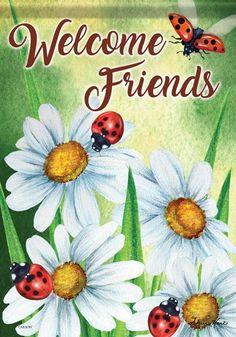 Happy Ladybugs House Flag Ladybug House, Ladybug Garden, Lilac Blossom, Blossom Garden, Summer Garden, Lawn And Garden, Sheep House, Flags For Sale, Mini Flags