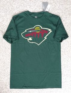 New$20 MINNESOTA WILD T-SHIRT Dark-Green Classic NHL Men/Women ADULT Med,Lrg,XL #NHL #MinnesotaWild