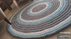 שטיח סרוג/ עגול/חדר ילדים/שטיחים סרוגים | הסורגת עפרה בכר | מרמלדה מרקט