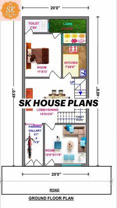 Little House Plans, My House Plans, Ground Floor Plan, Front Design, Modern House Design, Building Front, Floor Plans, How To Plan, Modern Home Design