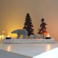 Polar Snowscape Tealight Holder