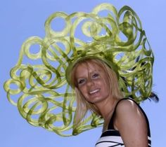 Outrageous hat..no one would wear but a looney....1