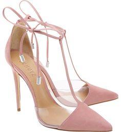 Women's Fashion High Heels : Pré Venda Scarpin Crystal Lace Up Poppy Rose Lila High Heels, Purple High Heels, Fancy Shoes, Me Too Shoes, Shoe Boots, Shoes Heels, Dress Shoes, Frauen In High Heels, Fashion Heels
