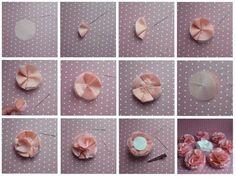 DIY Stoffblume nähen mit Anleitung   DIY SewFascinator Accessories Step by Step visit www.karolin-buckl.de