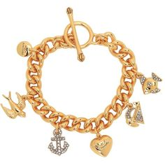 Juicy Couture Sailor Girl Charm Bracelet ($78) ❤ liked on Polyvore