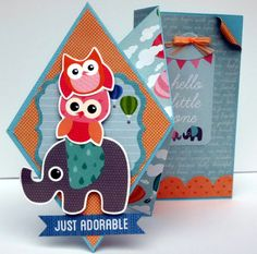 Video tutorial on a Diamond Fold Card. Collette Mitrega.