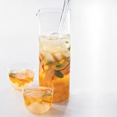 Mango-Peach Sangria // More Great Sangrias: http://www.foodandwine.com/slideshows/sangria #foodandwine #fwpinandwin