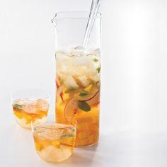 Mango-Peach Sangria // More Great Sangrias: http://www.foodandwine.com/slideshows/sangria #foodandwine