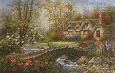 Artecy Cross Stitch. Home Sweet Home Cross Stitch Pattern to print online.