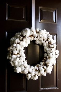 natural elements : how to make a cotton wreaththe handmade home