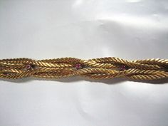 """VINTAGE 750 / 18K YELLOW GOLD PINK STONE BRAIDED S LINK CHAIN 7 1/2"""" BRACELET Antique Jewelry, Vintage Jewelry, Ebay Auction, Pink Stone, Vintage Antiques, Jewelry Watches, Braids, Chain, Yellow"""