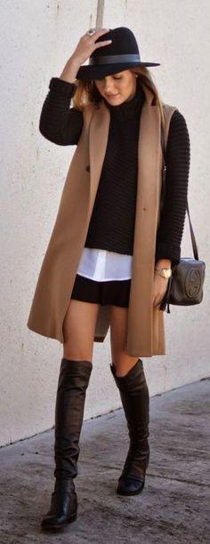How To Wear Black Blazer Fashion Ideas Vest Outfits, Casual Outfits, White Vest Outfit, Black Vest Outfit, Woman Outfits, Fall Winter Outfits, Autumn Winter Fashion, Winter Chic, Fall Clothes