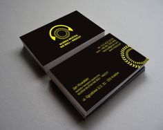 "Business card for the campaign ""Loud music does not hurt, so why destroy it."""