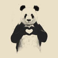 All You Need Is Love Panda Design
