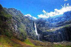 #MaravillasNaturalesDeFrancia - Grande Cascade de Gavarnie, la más alta de Francia y Europa con 423m de altura. Está situada en el Circo de Gavarnie.
