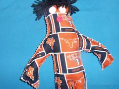 A personal favorite from my Etsy shop https://www.etsy.com/listing/203025919/university-of-texas-doll-texas-longhorns