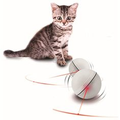 I-Fashion Cat Toy Laser Ball for Cat Funny and Exercise Led Cat Toy Ball (White) >>> Details can be found by clicking on the image. (This is an affiliate link) #Cats