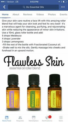 Flawless Skin Essential Oils Roller Blend ••• Buy dōTERRA essential oils online at www.mydoterra.com/suzysholar, or contact me suzy.sholar@gmail.com for more info.