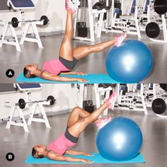 Tighten your butt in 20 minutes with this stability ball workout.