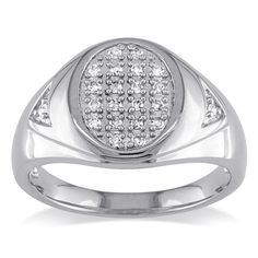 White Gold On .925 Sterling Silver with Round Cut White CZ Engagement Men's Ring #eightyjewels #EngagementMensRing